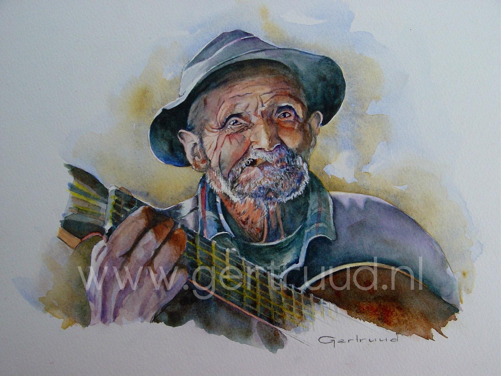 Oude man 1 watermerk