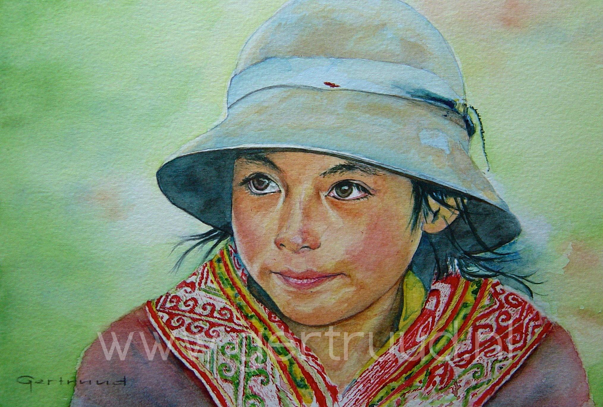 Peruaans meisje watermerk